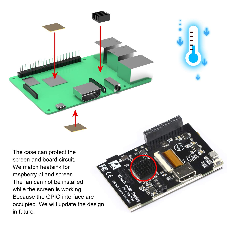 Amazon com: for Raspberry Pi 3 B+ 3 5 inch Touch HDMI Screen
