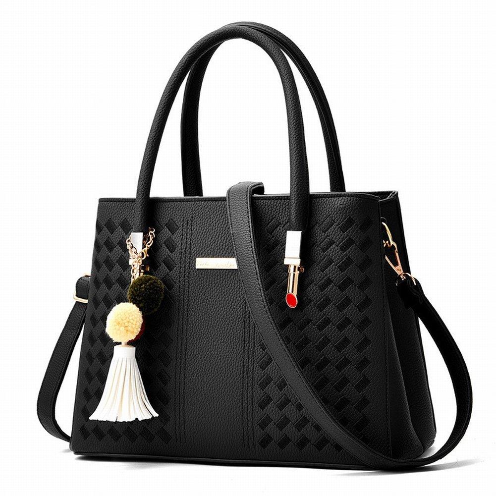 Haarballen Handtasche Weibliche Einfache und Modische Handtasche Diagonal Paket , schwarz