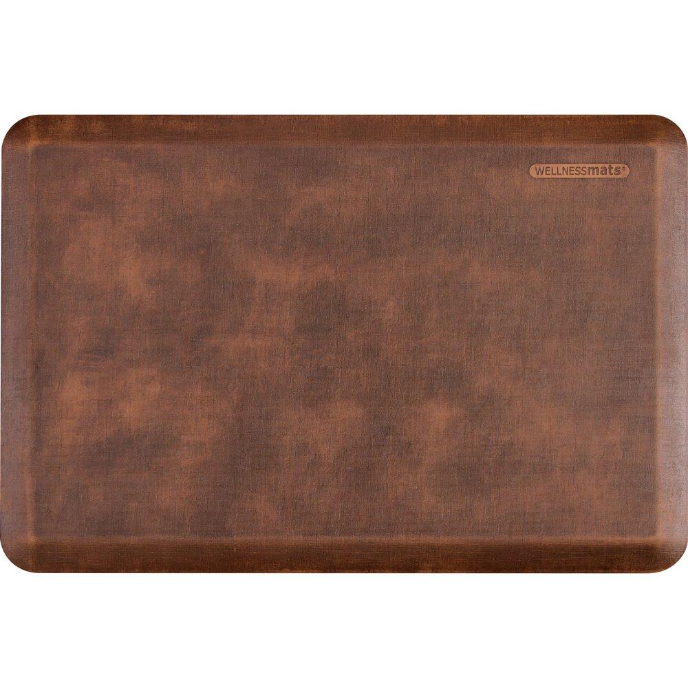 WellnessMats Anti-Fatigue 36 Inch by 24 Inch Linen Motif Kitchen Mat, Antique Light by WellnessMats