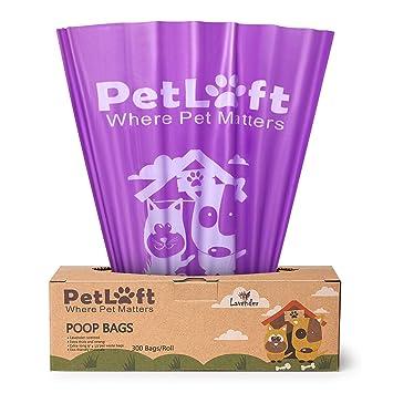 Amazon.com: petloft bolsa de caca, 300-count lavender ...
