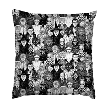 AnFuK Horror Monsters Throw Pillowcase Square Pillow Cover 18x18 Inch