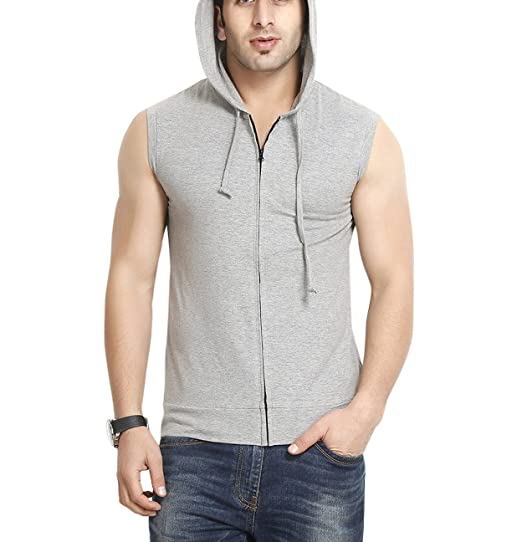GRITSTONES Men's Hooded Cotton Zipper Jacket Men's Sweatshirts & Hoodies at amazon