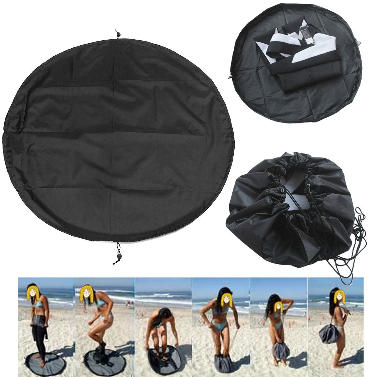 Wincom Dishman Water Sports WD Nylon 90cm Surfing Wetsuit Diving Suit Change Bag Mat Waterproof Bag Carry Pack Pouch