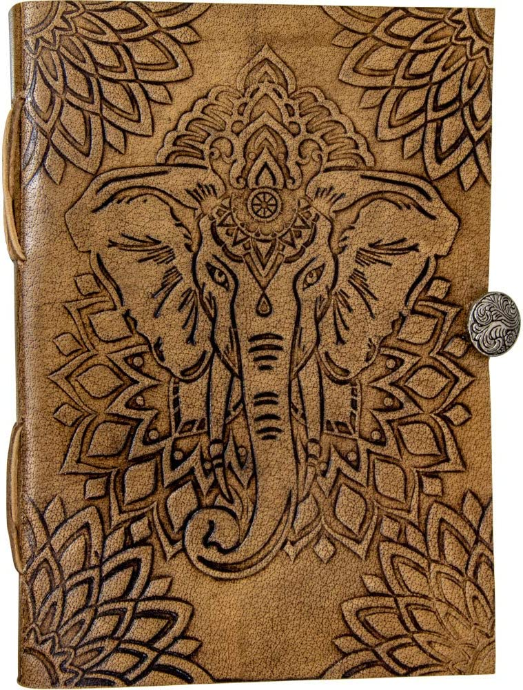 Milk Chocolate Handmade With Traditional Craftsmanship Engraved Animal African Elephant Can Store Two Us Passports Deluxe Full Grain Leather Passport Cover Wallet Case