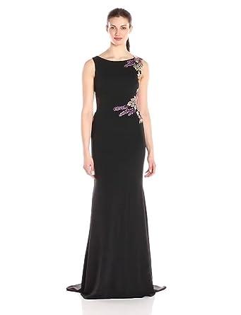 Jovani Womens Black Multi Fitted Prom Dress, ...
