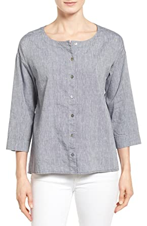 21fa4666e1ebc5 Image Unavailable. Image not available for. Color  Eileen Fisher Denim ...