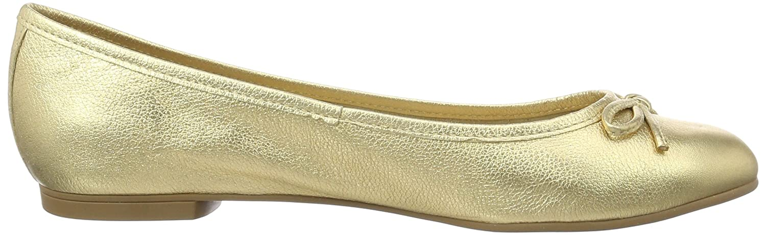 Buffalo London Damen ZS 2590-16 Vegetal Leather Geschlossene Ballerinas, Gold (Ouro 01), 39 EU