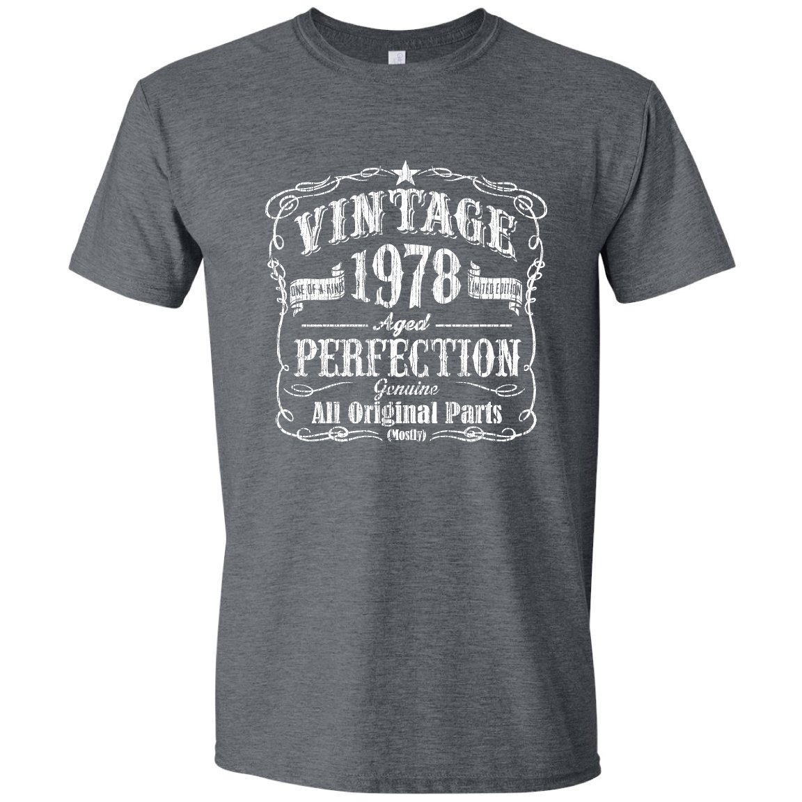 Born in 78 Birthday Shirt, Over The Hill, Bday Shirt for him, Vintage, Black, XL