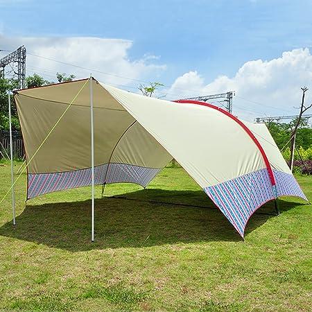 Accesorios para tiendas de campaña Lonas Toldo para múltiples personas al aire libre Toldo para playa Adventurer Tienda de campaña Sun protection rain shelter 10-15 personas (Color : Beige) : Amazon.es: Hogar