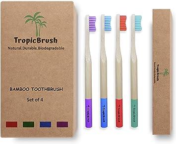 Cepillos de dientes de bambú Premium | Cepillo de dientes ...
