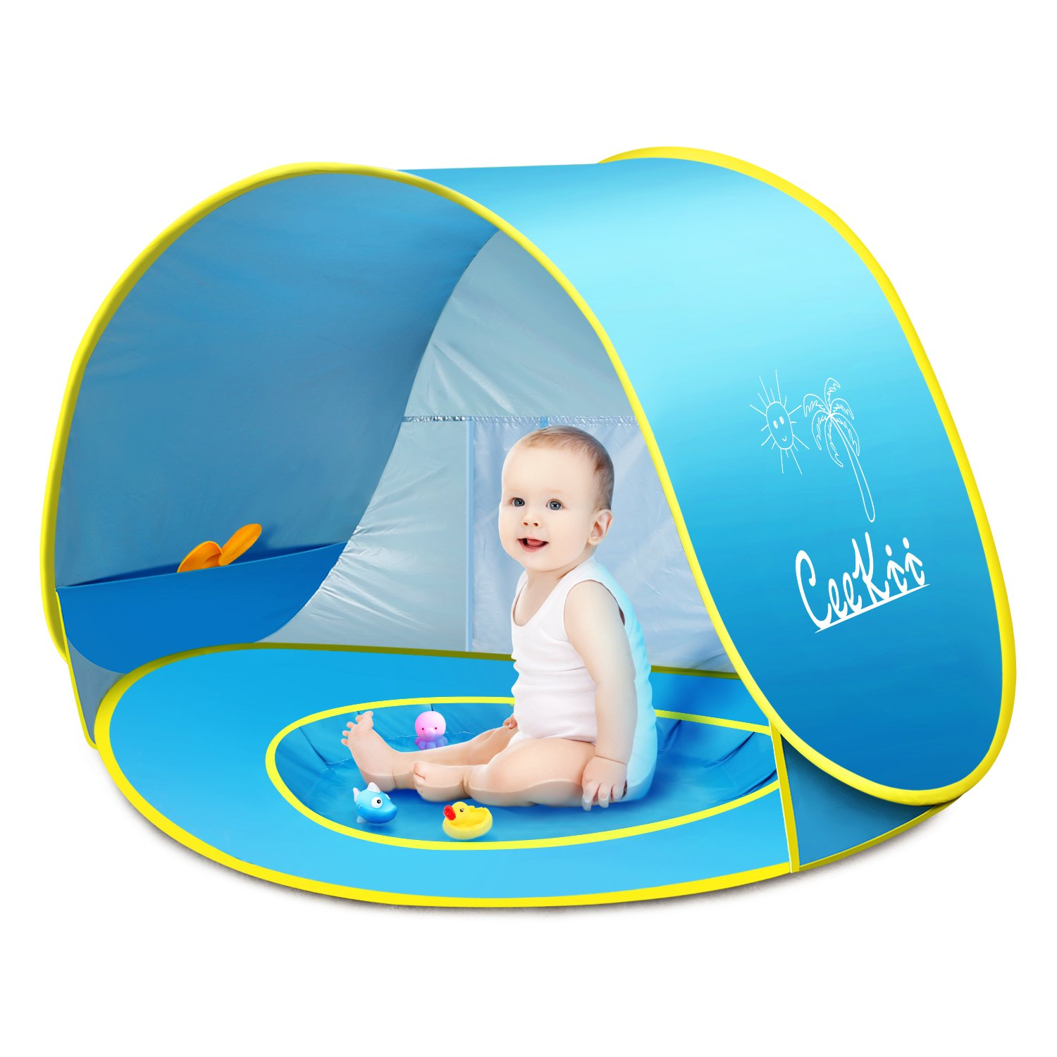 CeeKii Baby Beach Tent Pop Up Tent Portable Shade Pool UV Protection Sun Shelter with Mini Pool