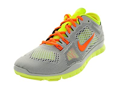 Nike Womens Wmns Free 5.0 TR Fit 4 , LT BASE GREYATOMIC ORANGE-