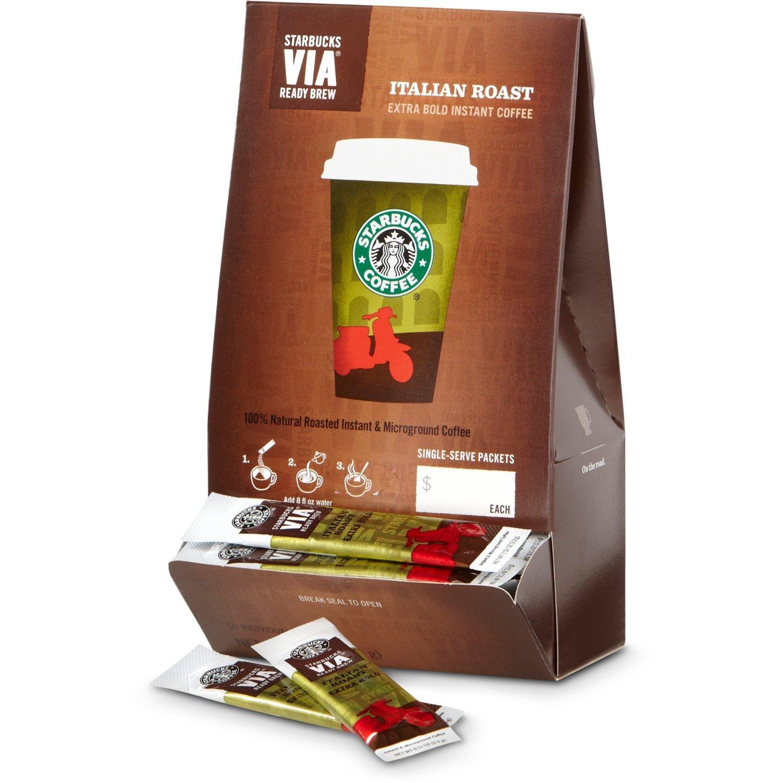 Starbucks VIA Ready Brew Coffee (Italian Roast, 100 Count)