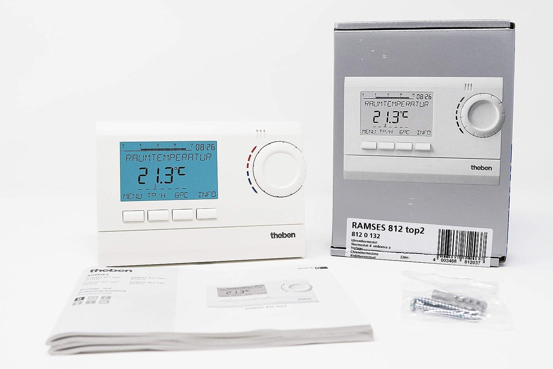 Theben 8120132 Ramses 812 Top2 - Termostato con reloj digital: Amazon.es: Bricolaje y herramientas