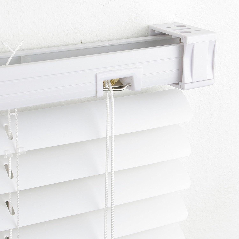 Liedeco Jalousie aus Kunststoff Kunststoff-Jalousie wei/ß B 180 cm 160 cm L/änge