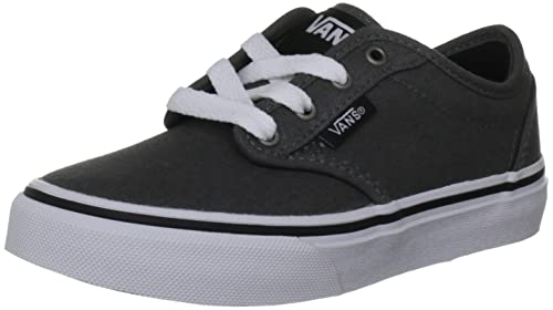 b107e8e9479 Image Unavailable. Image not available for. Color  Vans Atwood Kids-Youth  Charcoal white Shoes ...