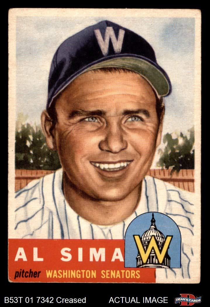 1954 Topps #216 Al Sima Chicago White Sox Washington Senators Baseball Card