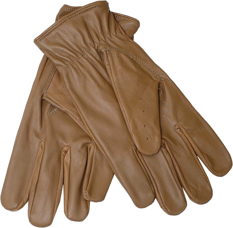 German Wear Driving Autofahrer-Handschuhe Lederhandschuhe Lammnappa echtleder Retro weinrot