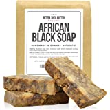 African Black Soap by Better Shea Butter - Use as a Face Wash, Body Wash or Shampoo - Free of Fragrances or Chemicals - 100% Natural and Handmade According to African Tradition - 1 lb (16 oz)