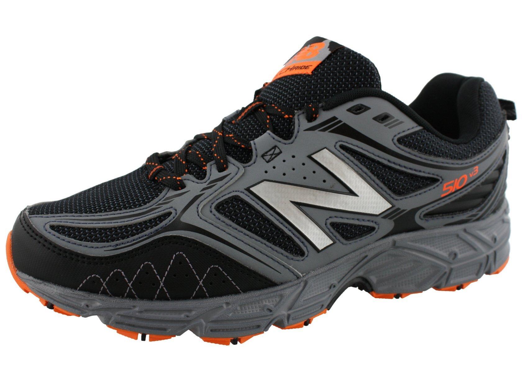New Balance Men's 510v3 Trail Running Shoe, Black/Grey, 11 4E US