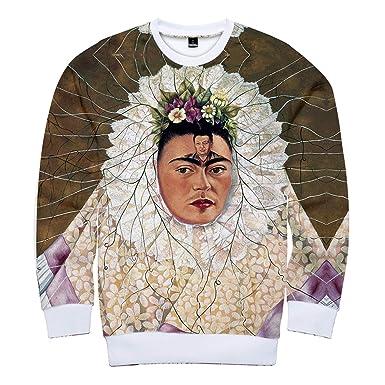 ef24a8f59 ZIGJOY Frida Kahlo 3D Printed Harajuku Self-Portrait Aesthetic ...