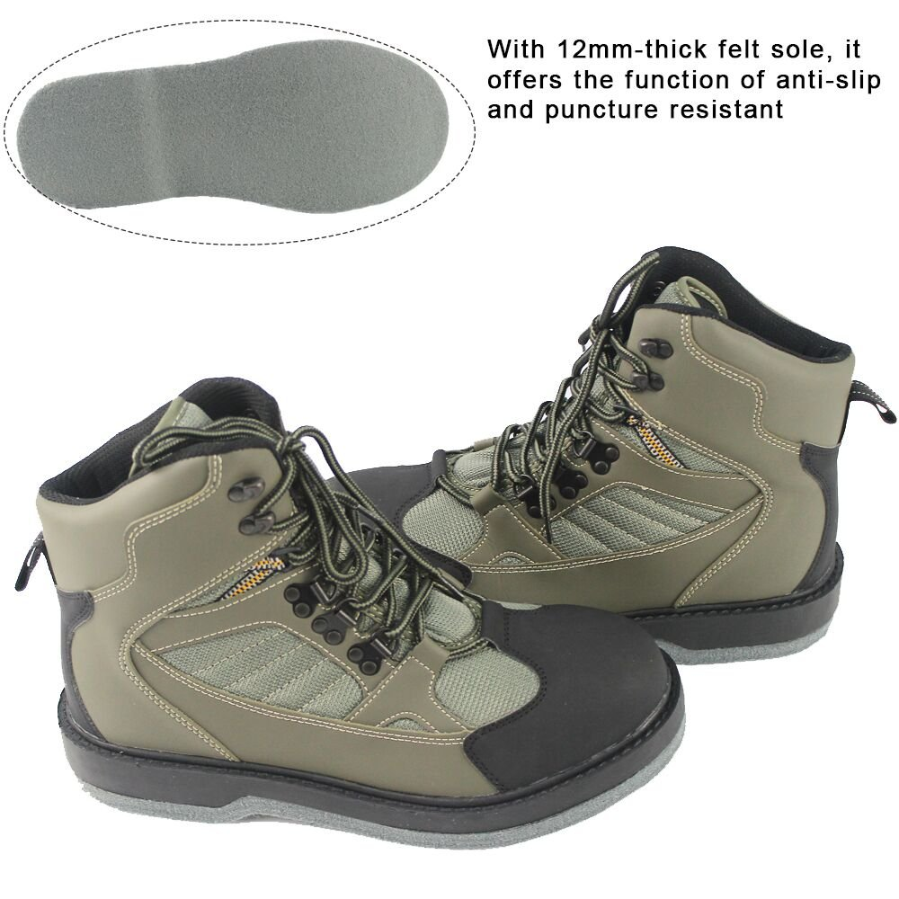 KyleBooker Fly Waders Waders Boot Zapatos Impermeables y Transpirables Caza  al Aire Libre Antideslizante Wading Boots KBFSAA  Amazon.es  Deportes y aire  ... 155b8c18a4c93