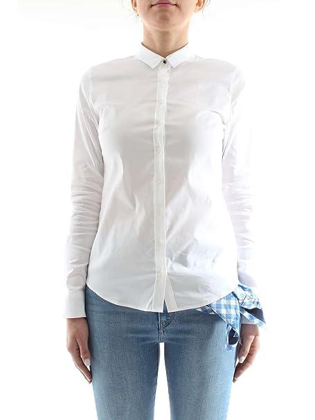 Tommy Hilfiger WW0WW22062 Camisas Mujer Blanco 8