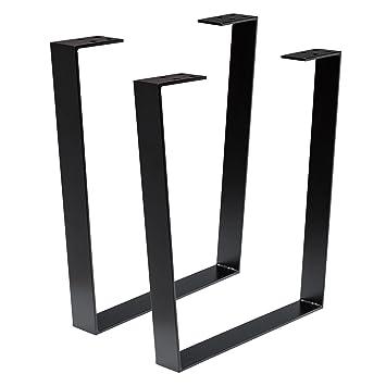 Bois werk24 Armature de table tug1005 acier noir acier plat trapèze – Table  kufen pieds Pieds a51557be0096