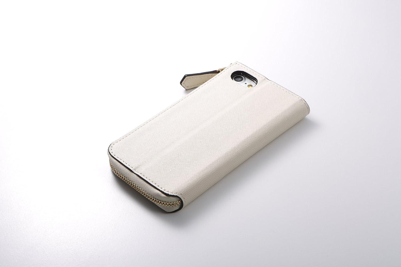 1e5a27be54 Amazon | ディーフ Deff iPhone 8 / iPhone 7 対応 ROUND ZIP CASE アイボリー DCS-IP7RZIV  | ケース・カバー 通販