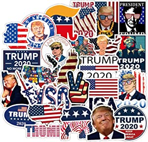 50Pcs Presidential Election Trump 2020 Stickers for Water Bottle Cup Laptop Guitar Car Motorcycle Bike Skateboard Luggage Box Vinyl Waterproof Graffiti Patches JKT
