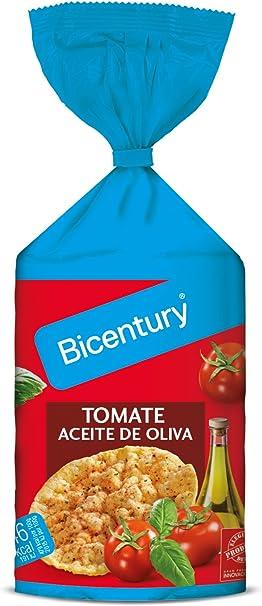 Bicentury Tortitas Maíz Tomate con Aceite de Oliva Nackis, 123.5g