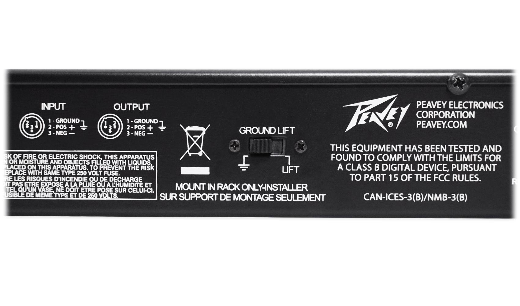 Package: Peavey PV 215 EQ Blk Dual 15-Band Graphic Equalizer With Control Sliders + Peavey PV 20' XLR Female to Male Low Z Mic Cable by Peavey (Image #6)