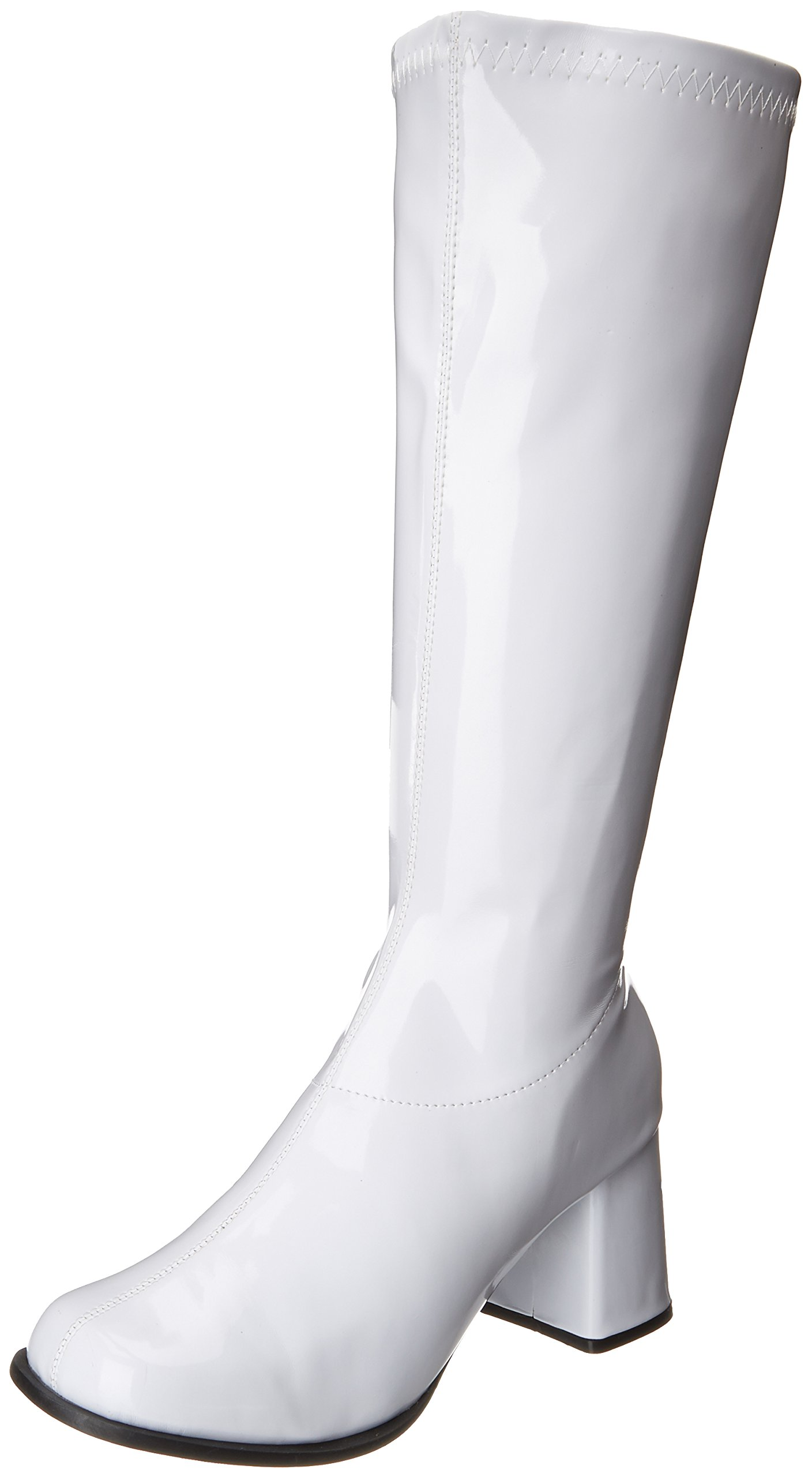 Gogo (White) Adult Boots [Wide Calf], 9 M by Ellie Shoes