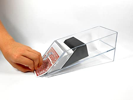 Lifestyle-You Acrylic Card Dealer Shoe for 4 Decks Playing Cards. for Poker & Card Parties.
