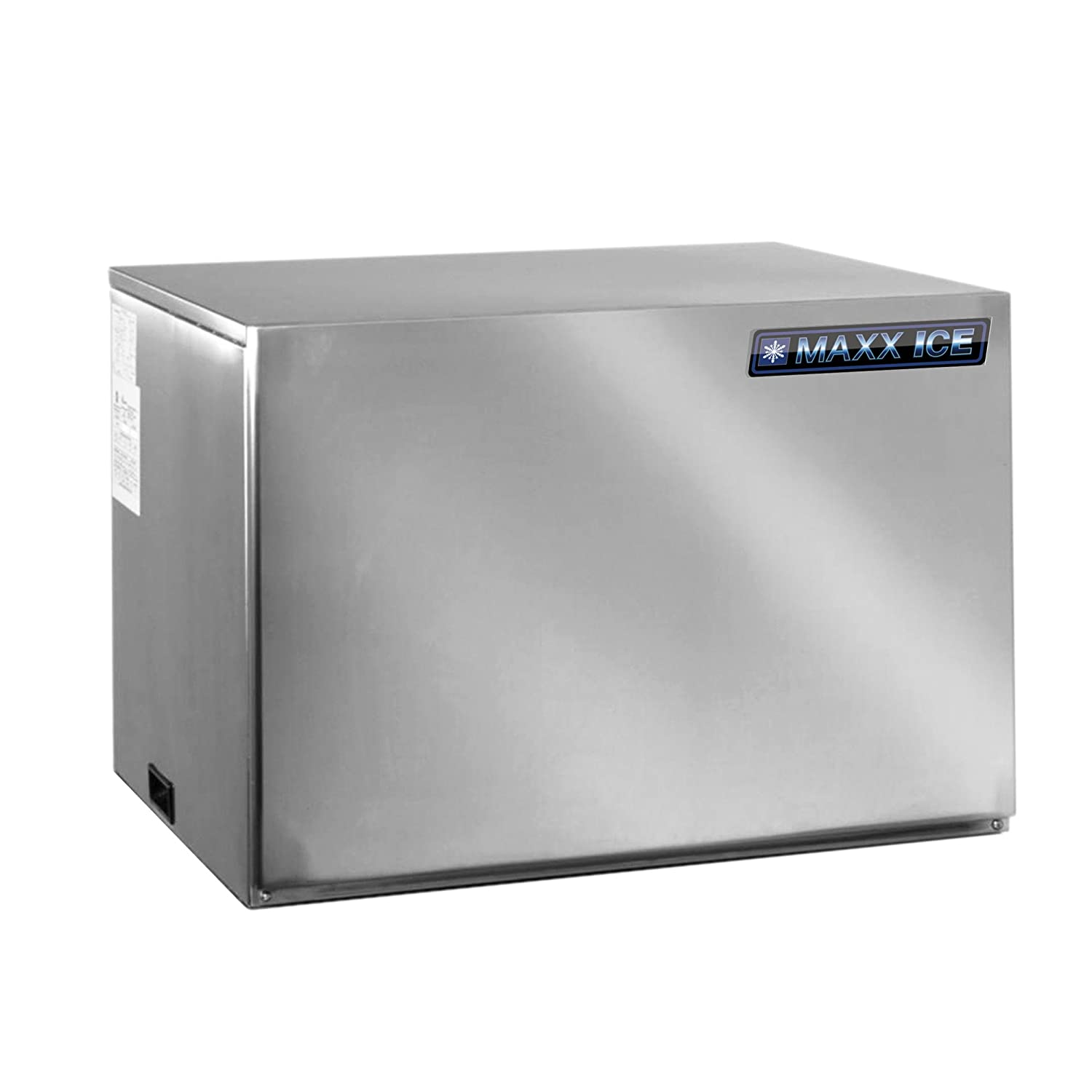 Maxx Ice MIM452 30' Modular Ice Maker with up to 450 lb Daily Ice Production Stainless Steel Exterior Air-Cooled Condenser and Easy to Use Automatic Cleaning Setting in Stainless