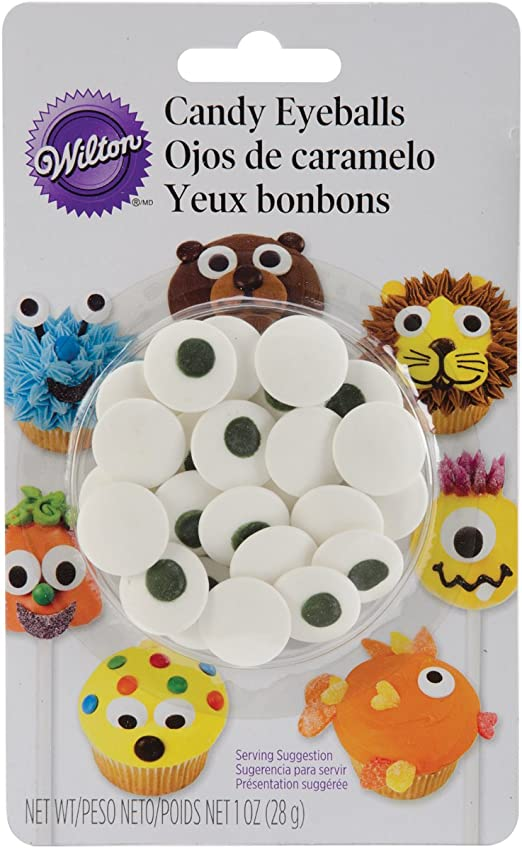 Admirable Wilton Candy Eyeballs Great For Childrens Birthday Cakes And Personalised Birthday Cards Paralily Jamesorg