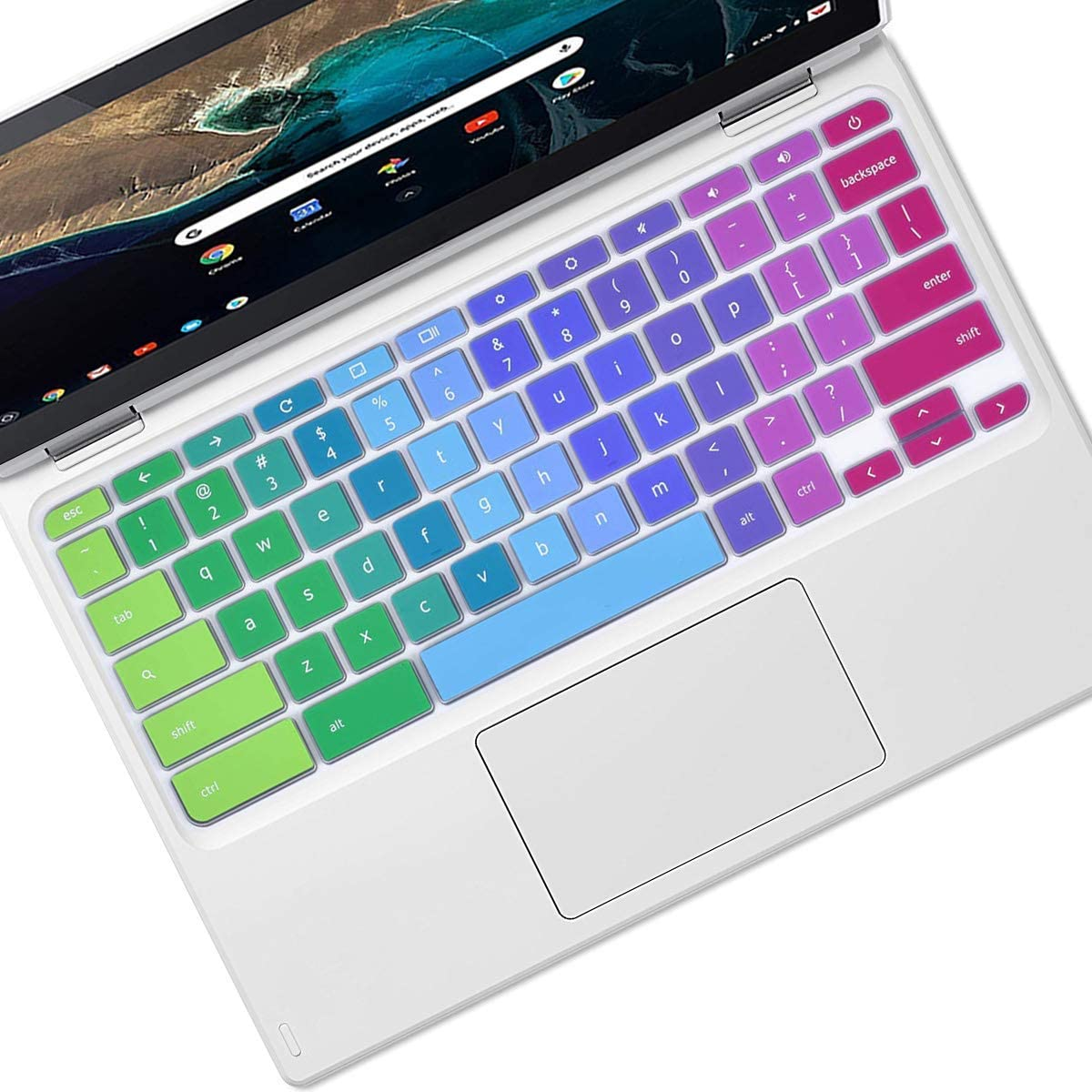 """Keyboard Cover Skin Fit for Dell 14"""" Dell Inspiron Chromebook 14 2-in-1 C7486 