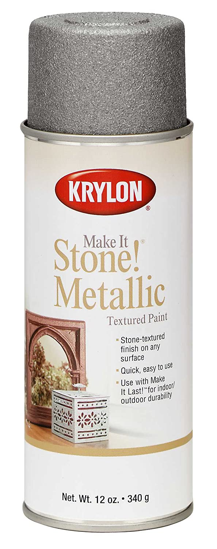 Krylon K08261 Make It Stone Metallic Textured Aerosol Spray Paint