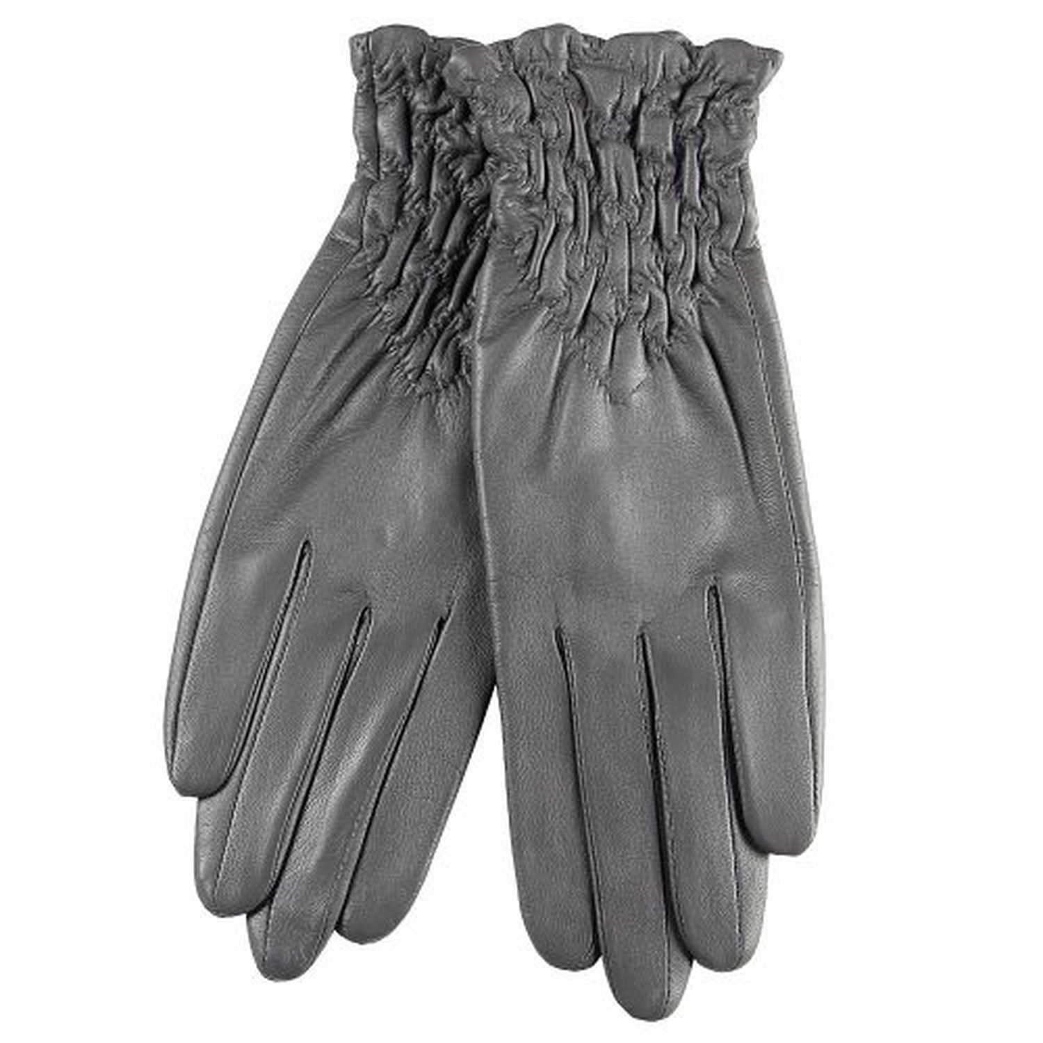 2015 New Medival Gothic Genuine Leather Ruched Wrist Length Short Gloves