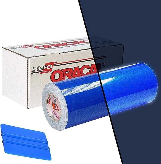 ORACAL 5400 - Rollo de vinilo adhesivo reflectante azul de 30,5 x 61 cm, incluye rasqueta aplicadora azul: Amazon.es: Juguetes y juegos