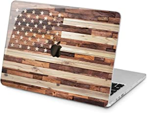 Lex Altern Hard Case for Apple MacBook Pro 15 Air 13 inch Mac Retina 12 11 2020 2019 2018 2017 2016 Laptop American Women Stars Patriotic USA Cover Stripes Touch Bar Shell Plastic Wooden Flag Girl