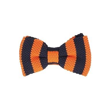 Marcell Sanders corbata de moño Límite de punto de algodón naranja ...