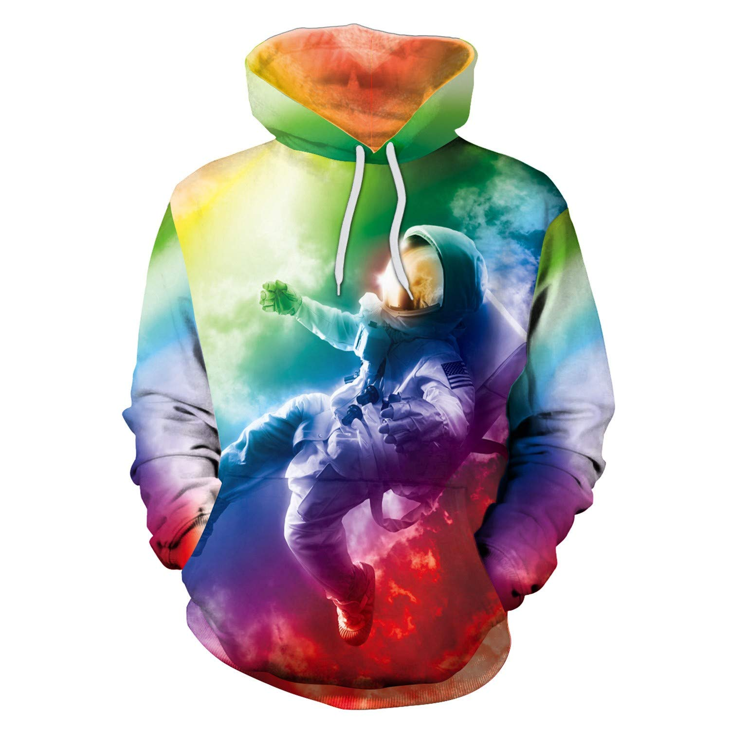 TCLY-FBY Unisex 3D Print Hoodie Novelty Pullover Color Pattern Sweatshirt Pocket Drawstring S-3XL