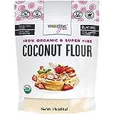 Wholesome Yum Premium Organic Coconut Flour (16 oz / 1 lb) - Gluten Free, Non GMO, Keto Friendly Flour Substitute For Low Car