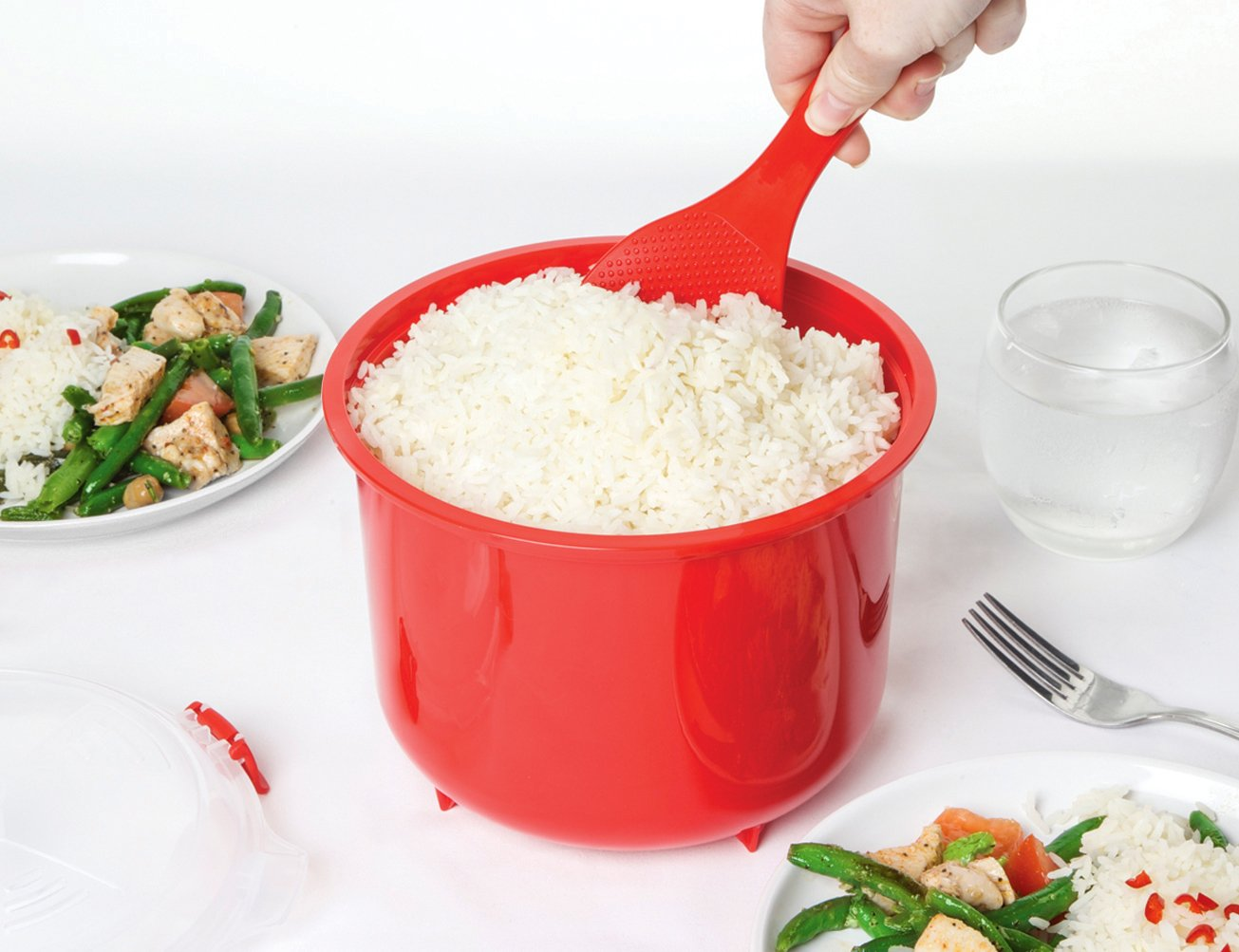 Sistema Microwave Collection Rice Cooker, 87.2 oz./2.6 L, Red by Sistema (Image #6)