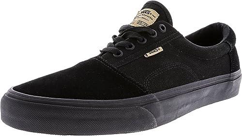 57dce9b2f57 Vans Men s Rowley Solos Suede Stretch Shoe Black Black 13 D(M) US ...