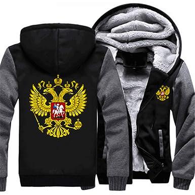 5fd48fed6 Shining4U fashion-hoodies Russian Logo Coat Zipper Hoodie Winter Fleece  Unisex Thicken Jacket Sweatshirts at Amazon Women's Clothing store: