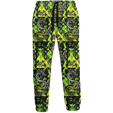 Eternity Bliss Abstract Green Dragon Pantalones de chándal ...