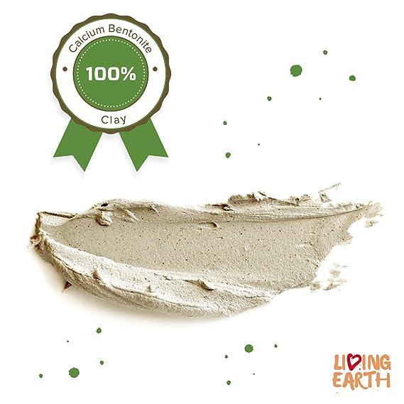 1 KG - Arcilla bentonita de calcio Living Earth - Limpieza profunda de poros. Purificante, regeneradora y remineralizante. Producto 100% natural.