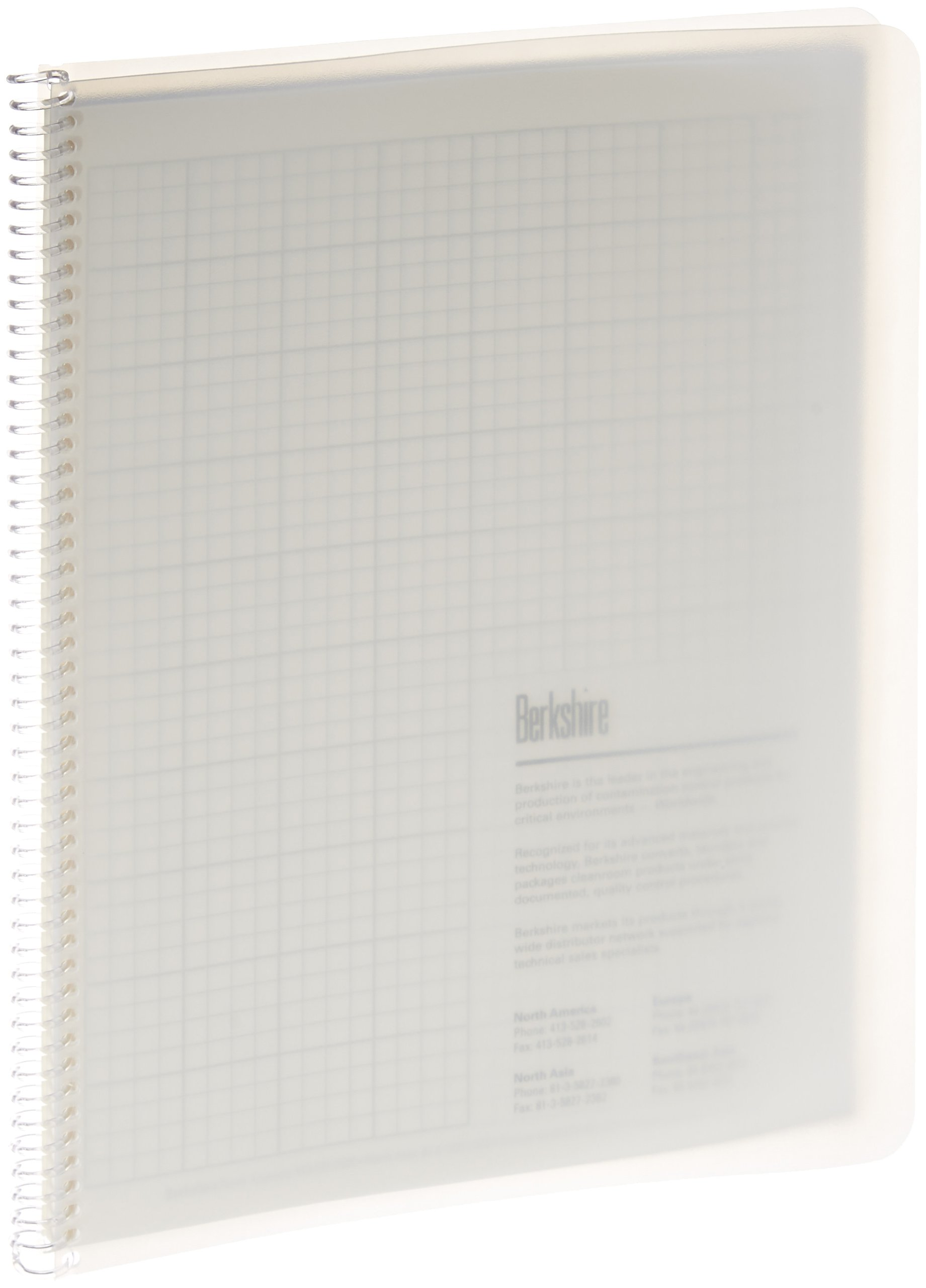 Berkshire BCR 1/4'' Grid Spiral Notebook, 8-1/2'' x 11'' (Case of 10 Packs)